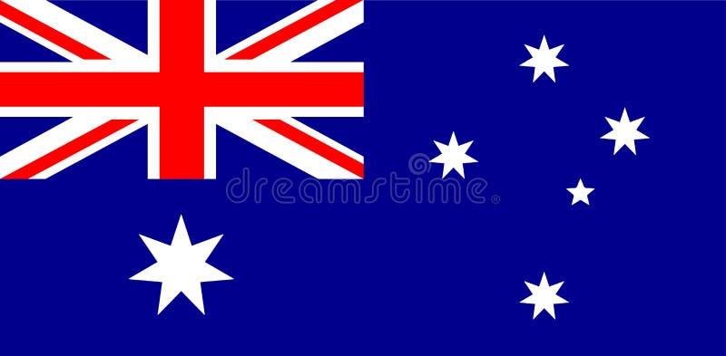Wektorowa ilustracja Autralian flaga państowowa Australia zaznacza prawidłowo, urzędników kolory i proporcja Obywatela Australia  ilustracja wektor