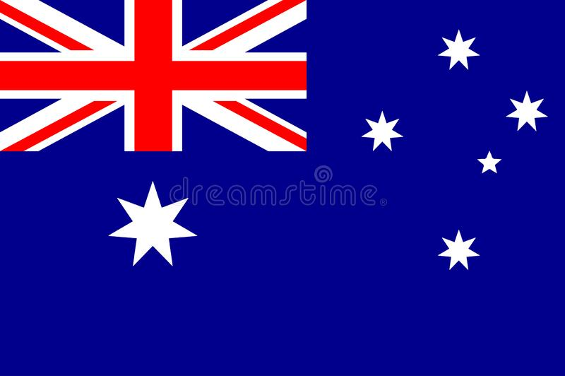 Wektorowa ilustracja Autralian flaga państowowa Australia zaznacza prawidłowo, urzędników kolory i proporcja Obywatela Australia  ilustracji