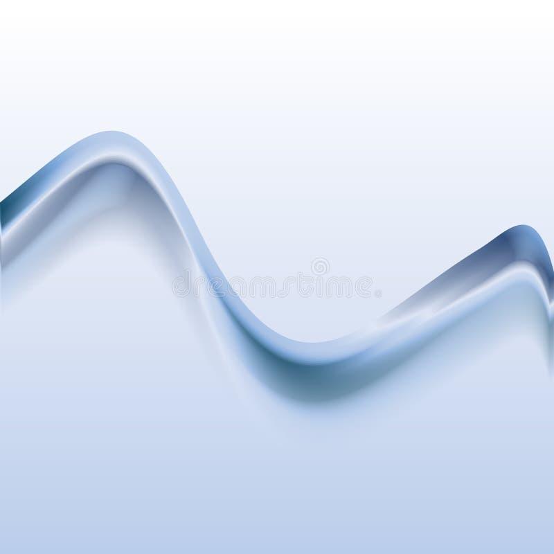 Wektorowa ilustracja błękitny abstrakcjonistyczny tło robić świateł pluśnięcia i wyginać się linie royalty ilustracja