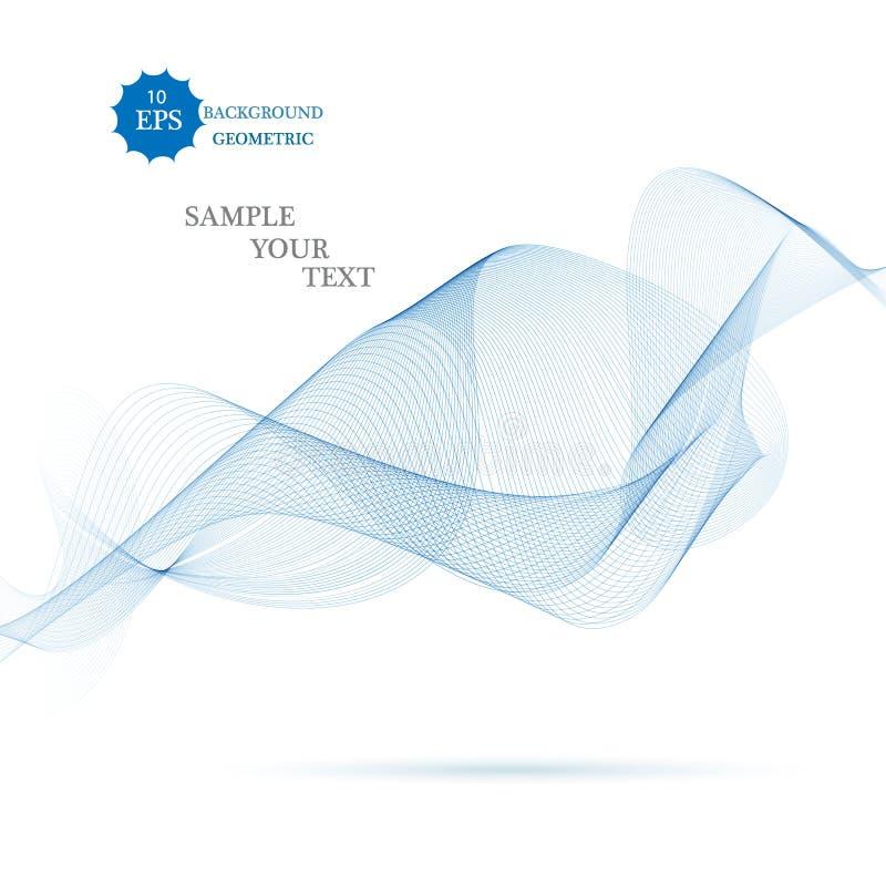 Wektorowa ilustracja błękitny abstrakcjonistyczny tło robić świateł pluśnięcia i wyginać się linie ilustracja wektor