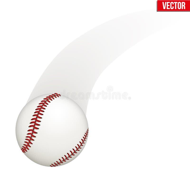 Wektorowa ilustracja baseball skóry piłka ilustracji