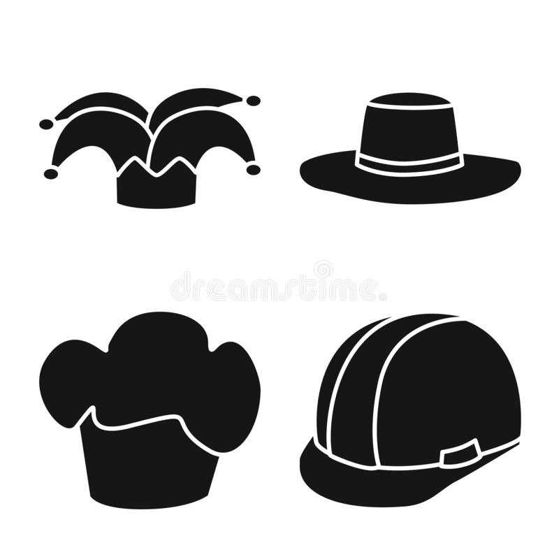 Wektorowa ilustracja beanie i bereta logo Set beanie i je?arki akcyjna wektorowa ilustracja ilustracji