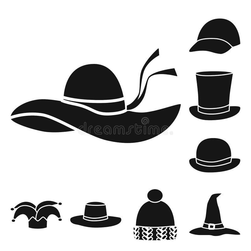 Wektorowa ilustracja beanie i bereta symbol Kolekcja beanie i je?arki akcyjny symbol dla sieci ilustracji