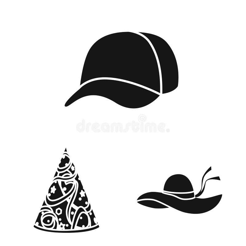 Wektorowa ilustracja beanie i bereta znak Set beanie i je?arki akcyjna wektorowa ilustracja ilustracji