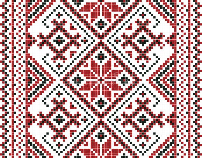 Wektorowa ilustracja bezszwowa ukraiński ornament Dla tapety, tkaniny, karty royalty ilustracja