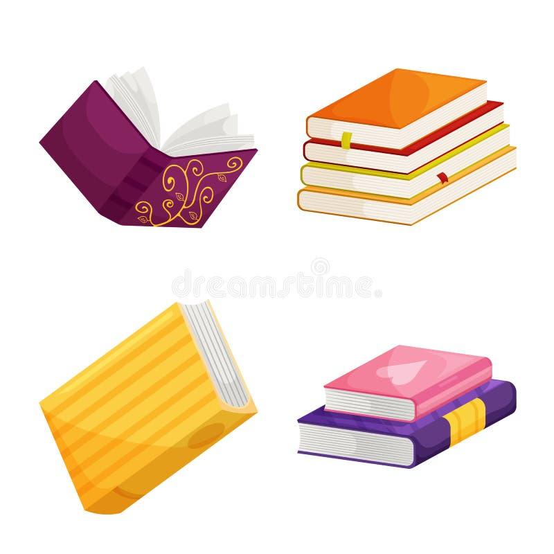 Wektorowa ilustracja biblioteki i bookstore ikona Kolekcja biblioteki i literatury akcyjny symbol dla sieci ilustracji