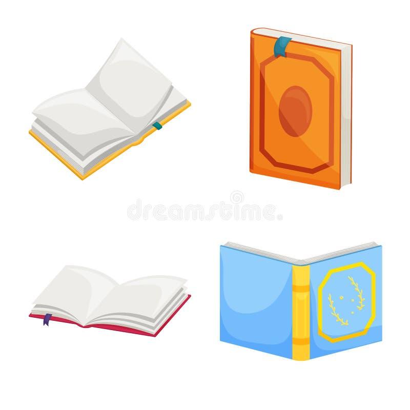 Wektorowa ilustracja biblioteki i bookstore ikona Kolekcja biblioteki i literatury akcyjny symbol dla sieci ilustracja wektor