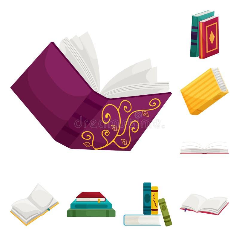 Wektorowa ilustracja biblioteki i bookstore symbol Kolekcja biblioteki i literatury wektorowa ikona dla zapasu royalty ilustracja