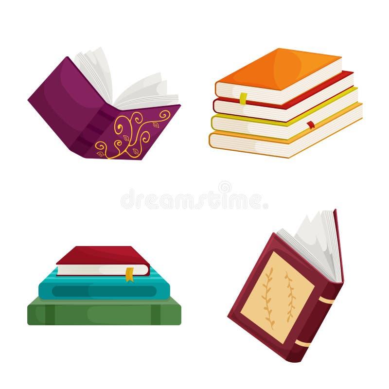 Wektorowa ilustracja biblioteki i bookstore znak Kolekcja biblioteki i literatury akcyjna wektorowa ilustracja ilustracji