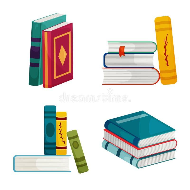 Wektorowa ilustracja biblioteki i bookstore znak Kolekcja biblioteki i literatury wektorowa ikona dla zapasu ilustracji