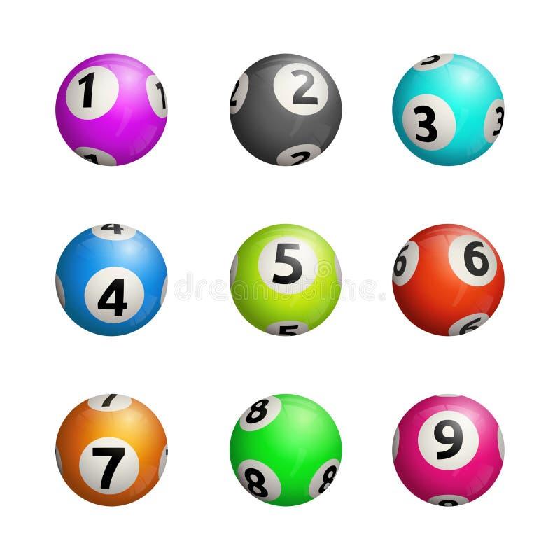Wektorowa ilustracja bingo piłki Na białym tle royalty ilustracja