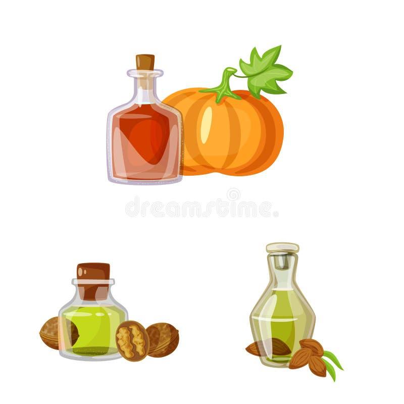 Wektorowa ilustracja butelki i szk?a symbol Kolekcja butelka i rolnictwo wektorowa ikona dla zapasu royalty ilustracja