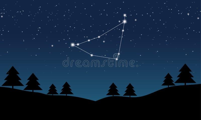 Wektorowa ilustracja Capricorn gwiazdozbiór ilustracja wektor