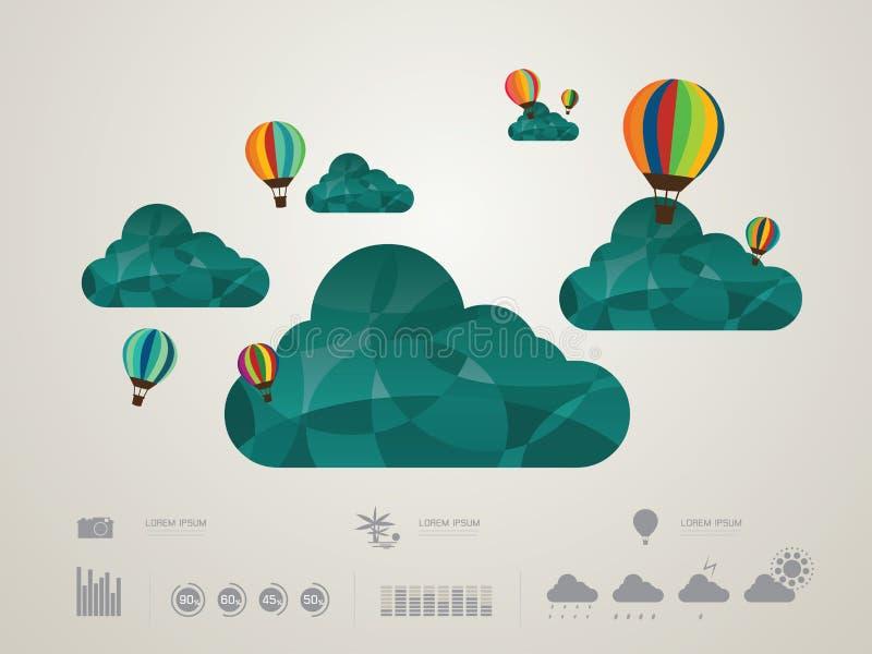 Wektorowa ilustracja chmura royalty ilustracja
