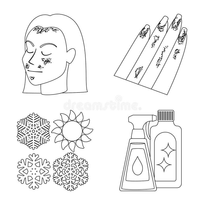 Wektorowa ilustracja choroby i opieki zdrowotnej symbol Kolekcja choroba i b?lowy akcyjny symbol dla sieci royalty ilustracja