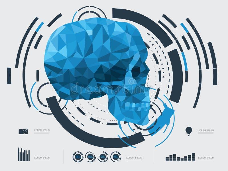Wektorowa ilustracja czaszka ilustracji