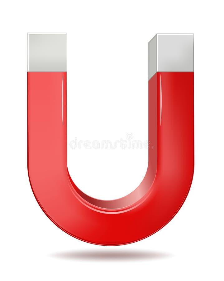 Wektorowa ilustracja czerwony podkowa magnes ilustracja wektor