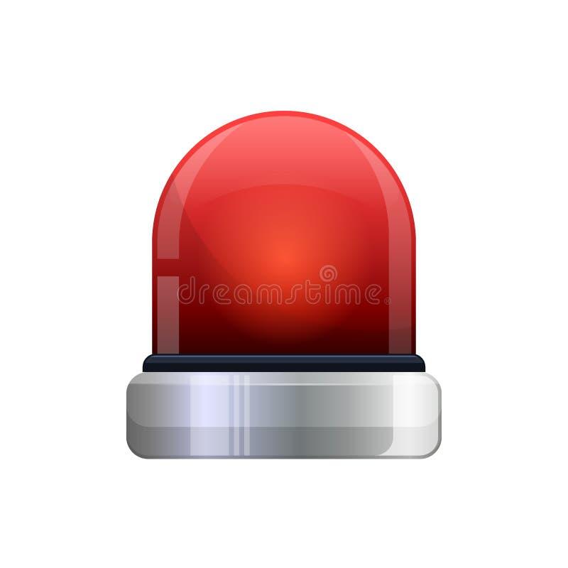 Wektorowa ilustracja czerwony rozblaskowy przeciwawaryjny światło royalty ilustracja