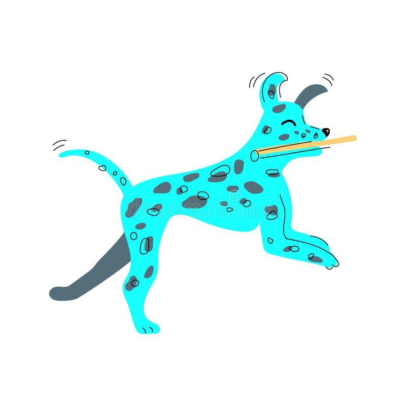 Wektorowa ilustracja dalmatian pies ilustracji