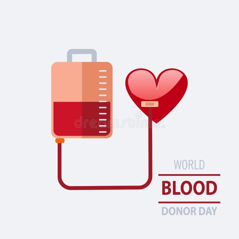 Wektorowa ilustracja Daruję krwionośny pojęcie dla Światowego krwionośnego dono obraz stock