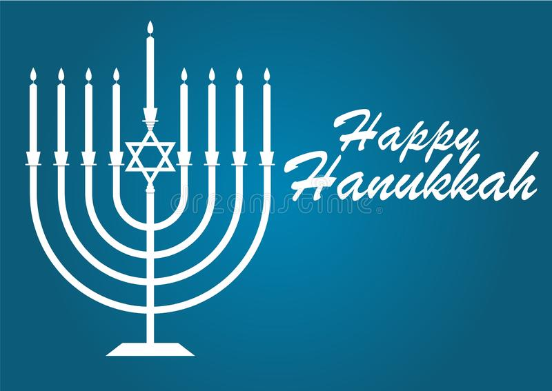 Wektorowa ilustracja dedykująca Żydowski wakacje Hanukkah