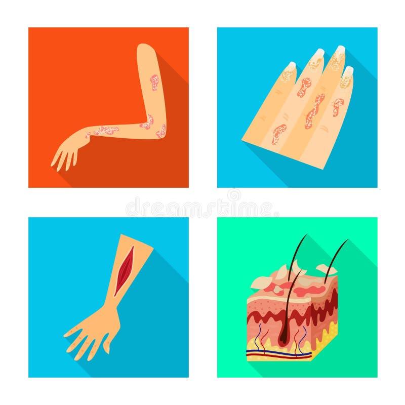 Wektorowa ilustracja dermatologii i choroby ikona Kolekcja dermatologia i medyczna wektorowa ikona dla zapasu royalty ilustracja