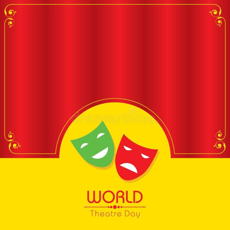 Wektorowa ilustracja dla Światowego Theatre dnia projekta royalty ilustracja