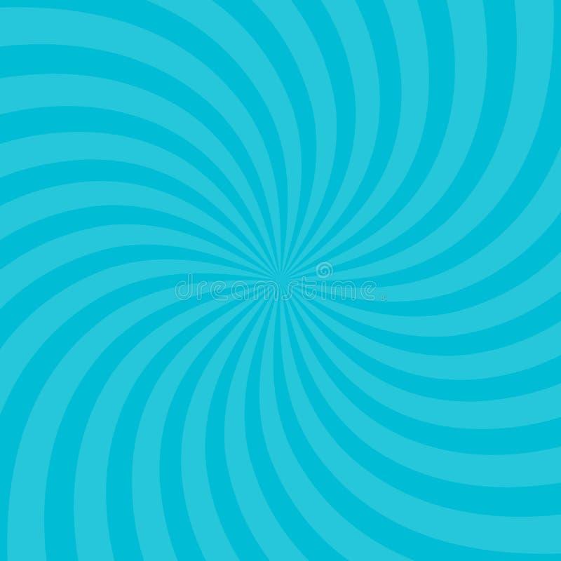 Wektorowa ilustracja dla zawijasa projekta Vortex starburst spirali twirl kwadrat Helix obracania promienie Zbieżny psychodeliczn ilustracji