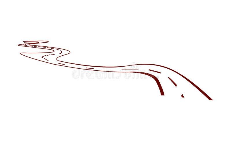 Wektorowa ilustracja drogowy podjazd ilustracji