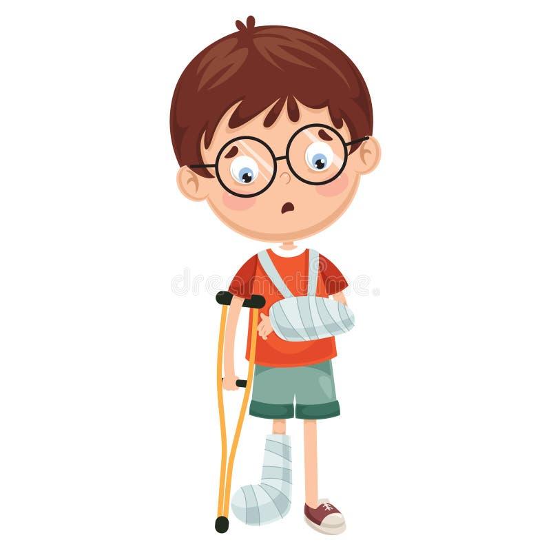 Wektorowa ilustracja dziecko choroby ilustracji