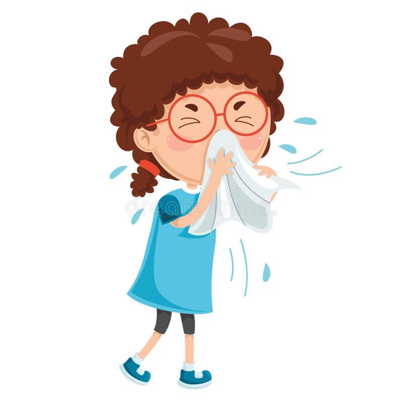 Wektorowa ilustracja dziecko choroby royalty ilustracja