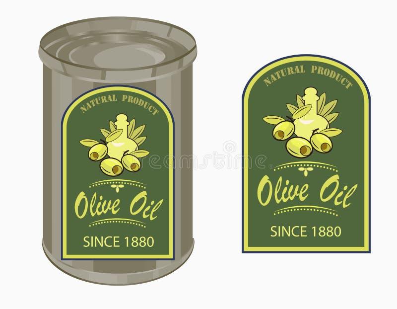 Wektorowa ilustracja etykietka oliwa z oliwek ilustracji