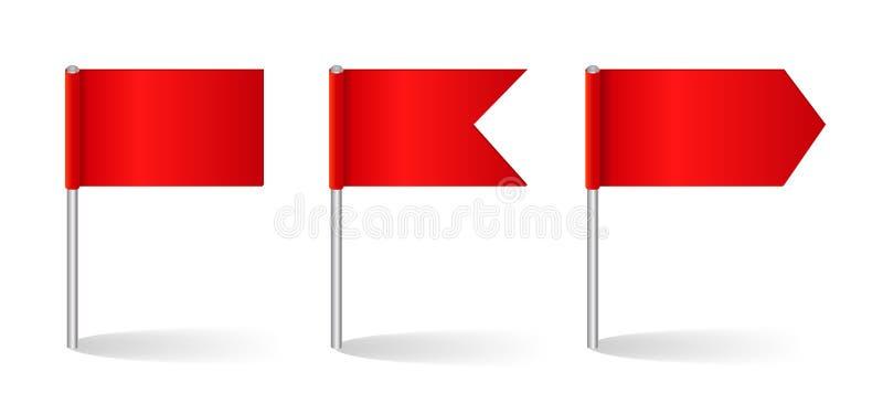 Wektorowa ilustracja flaga set ilustracja wektor