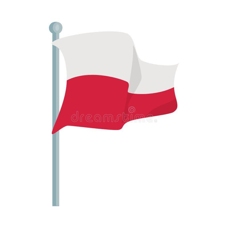 Wektorowa ilustracja flagi i połysku znak Set flaga i międzynarodowy akcyjny symbol dla sieci ilustracji