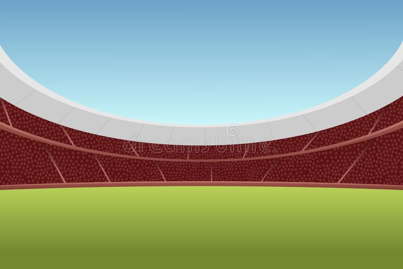 Wektorowa ilustracja futbolowa arena ilustracji