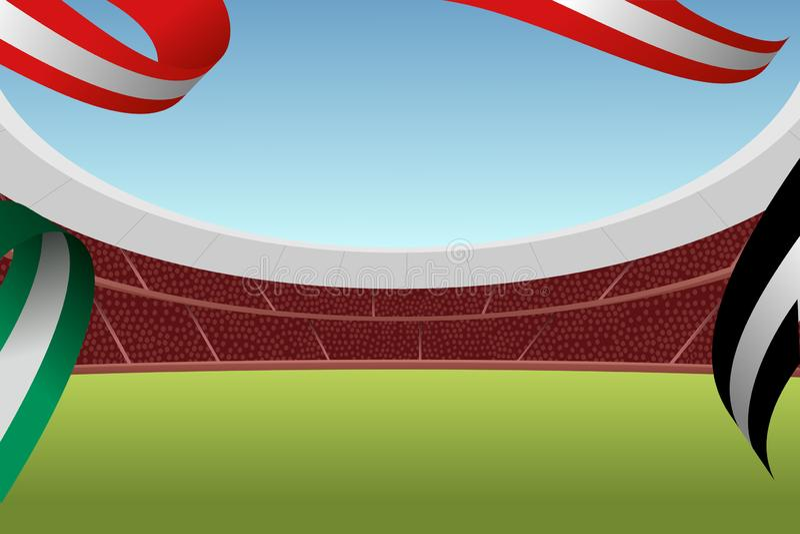 Wektorowa ilustracja futbolowa arena ilustracja wektor