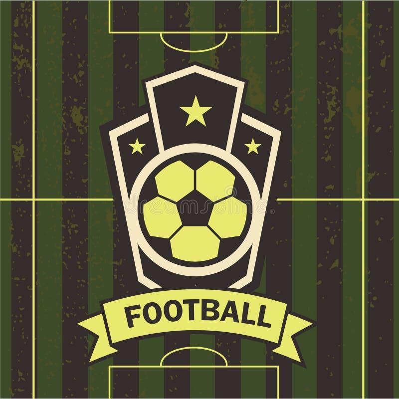 Wektorowa ilustracja futbolowy emblemata boisko piłkarskie ilustracja wektor