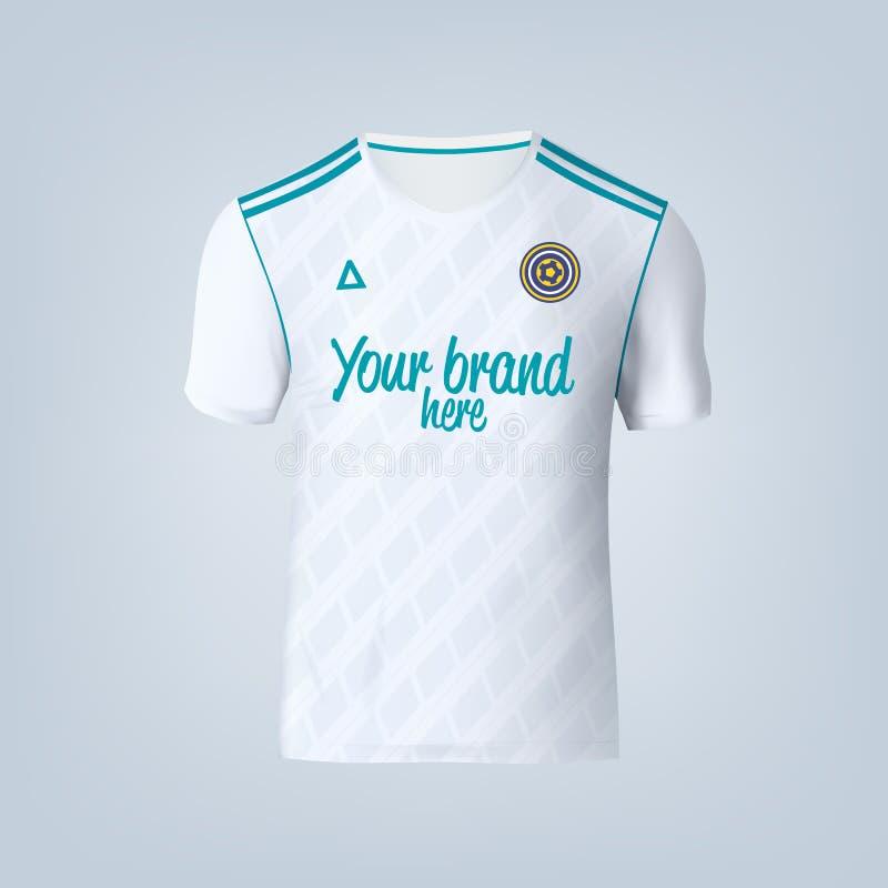 Wektorowa ilustracja futbolowy koszulka szablon royalty ilustracja