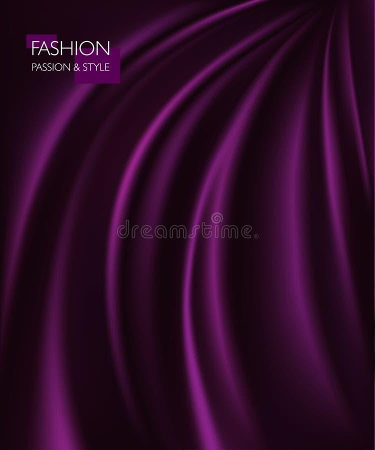 Wektorowa ilustracja gładka elegancka luksusowa purpurowa jedwabiu lub atłasu tekstura Może używać jako tło ilustracja wektor