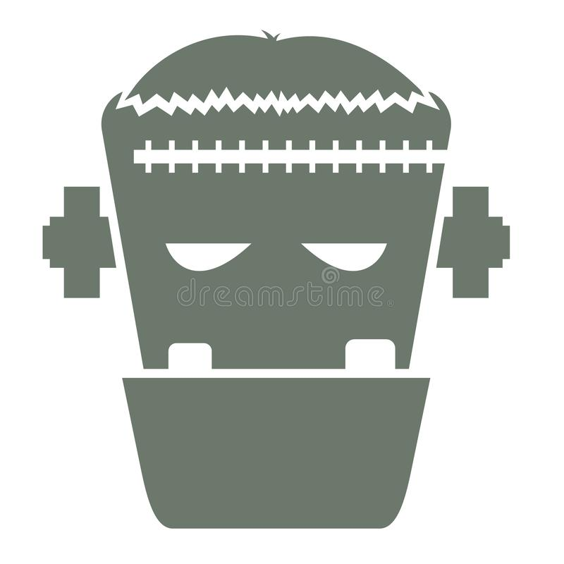 Wektorowa ilustracja głowa Frankenstein character2 zdjęcie stock