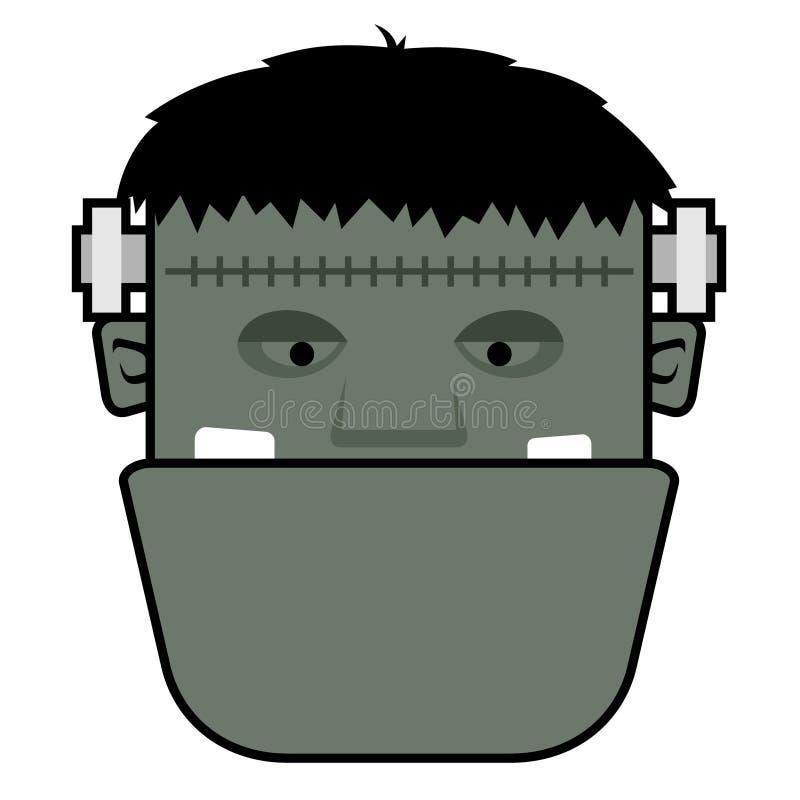 Wektorowa ilustracja głowa Frankenstein character3 fotografia stock