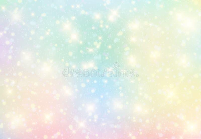 Wektorowa ilustracja galaxy fantazi tło i pastelowy kolor royalty ilustracja