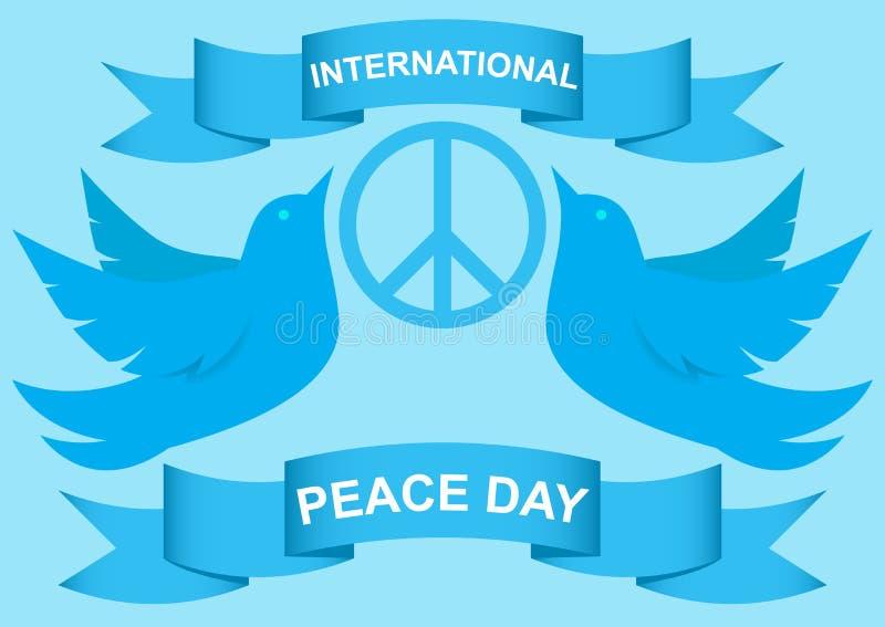 Wektorowa ilustracja gołąbka światowego pokoju dzień EPS 10 ilustracja wektor