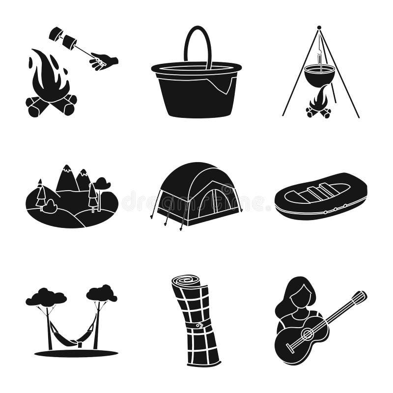Wektorowa ilustracja grill i czas wolny ikona Kolekcja grilla i natury akcyjny symbol dla sieci ilustracji