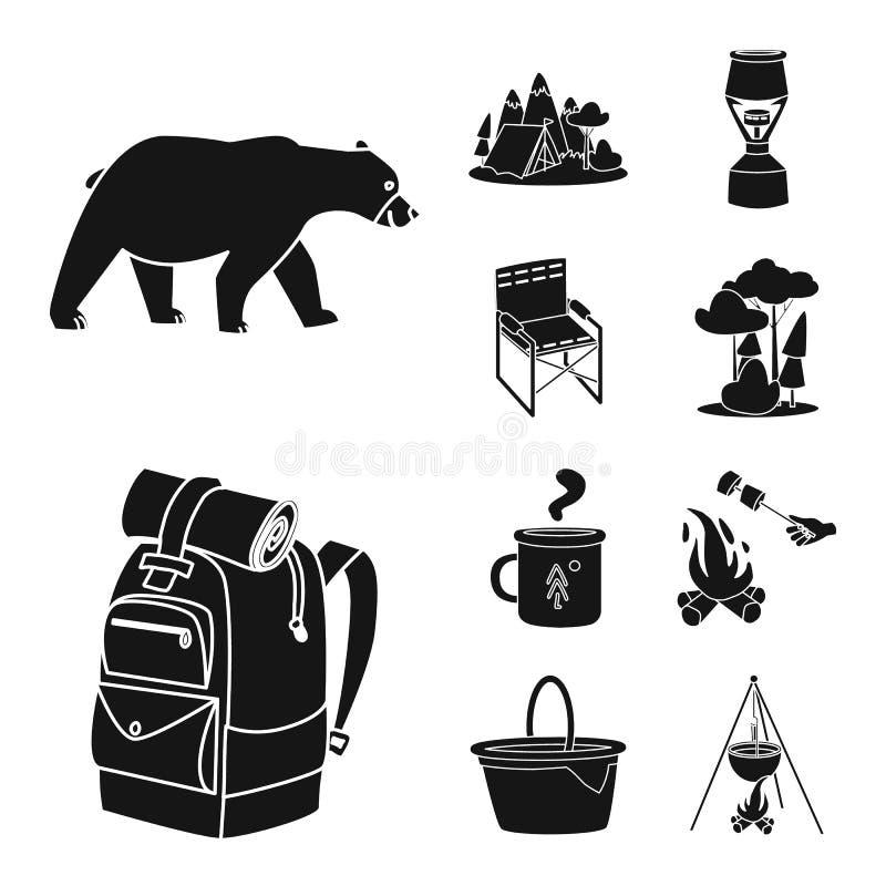 Wektorowa ilustracja grill i czasu wolnego symbol Kolekcja grilla i natury akcyjny symbol dla sieci royalty ilustracja