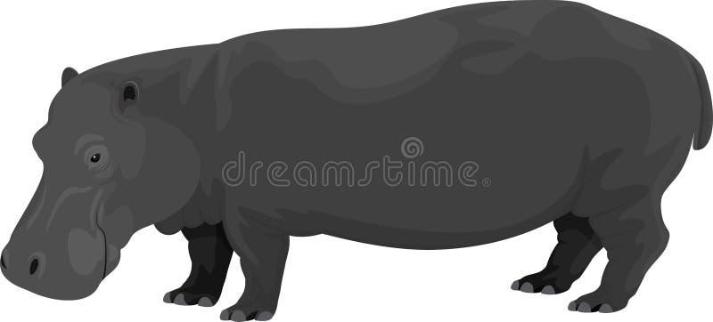 Wektorowa ilustracja hipopotam ilustracji