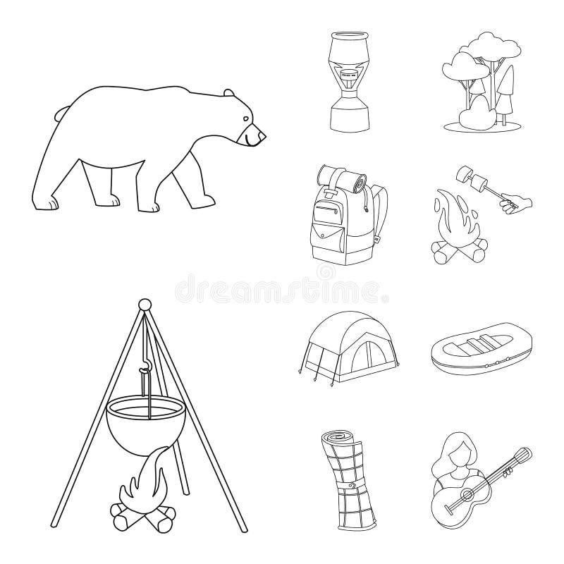 Wektorowa ilustracja hobby i podróży znak Kolekcja hobby i turystyki akcyjny symbol dla sieci royalty ilustracja