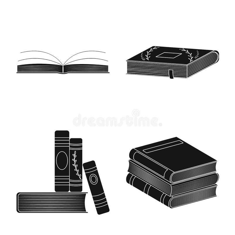 Wektorowa ilustracja ilustracyjny i ewidencyjny logo Set ilustracji i bookstore wektorowa ikona dla zapasu royalty ilustracja