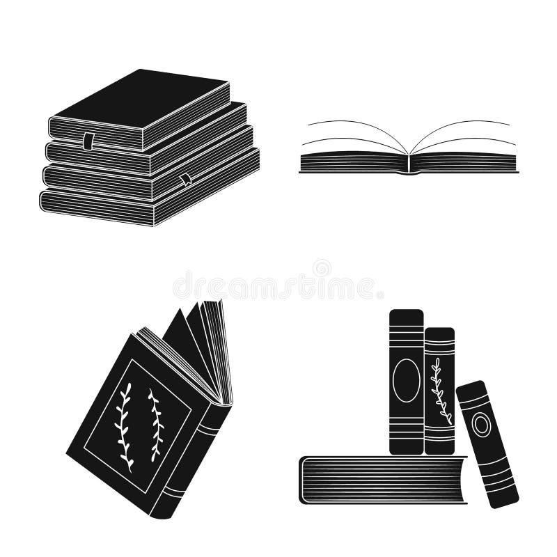 Wektorowa ilustracja ilustracyjny i ewidencyjny symbol Kolekcja ilustracji i bookstore wektorowa ikona dla ilustracji