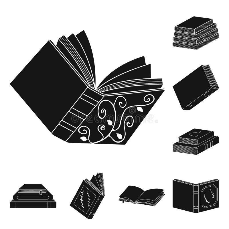Wektorowa ilustracja ilustracyjny i ewidencyjny symbol Set ilustracji i bookstore akcyjny symbol dla sieci royalty ilustracja